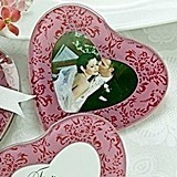 Artisano Designs Pretty in Pink Heart Glass Photo Coasters (Set of 2)