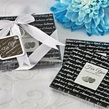 Love Is Patient Glass Photo Coasters/Place Card Holders (Set of 2)