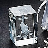 Artisano Designs Blessed Prayer Laser Etched Crystal Favor (Set of 4)
