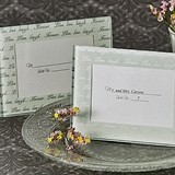 Live Love Laugh Frosted Glass Frame/Place Card Holder (Set of 4)