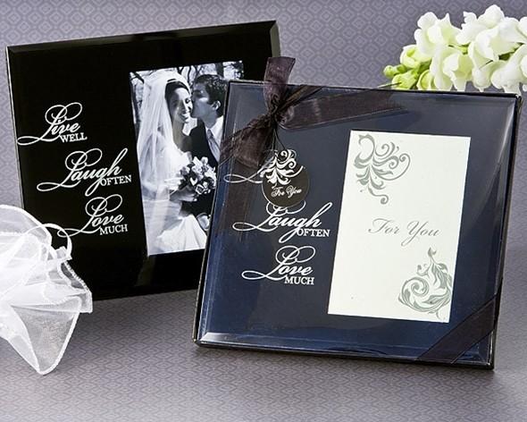 Artisano Designs Live, Love, Laugh Glass Photo Frame Favor