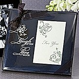 Artisano Designs Live, Love, Laugh Glass Photo Frame Favor