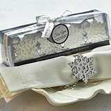 Artisano Designs Winter Wishes' Snowflake Napkin Rings (Set of 4)