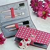 Artisano Designs Pretty in Pink Polka Dot Makeup Brush Kit