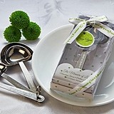 The Measure of Love Heart Measuring Spoons (White & Green Gift-Box)