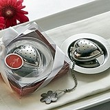 "Artisano Designs ""Love is Brewing"" Heart-Shaped Tea Infuser"