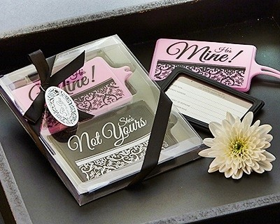"""""""Mine Not Yours"""" His and Hers Luggage Tag Set"""
