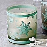 Winter Lights Snowflake Tea Light Candle Holder (Pack of 4)
