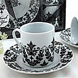 Dramatic Damask Espresso Cup Favor Set (Pack of 2 Sets)
