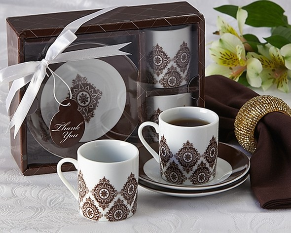 """Moroccan Flair"" Espresso Coffee Cup Set (Pack of 2 Sets)"