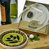 """Taste of the Orchard"" Oil-Vinegar Dipping & Appetizer Plate"