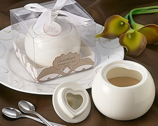 "Artisano Designs ""Sweetheart"" Porcelain Sugar Bowl"
