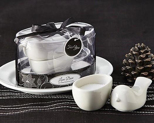 "Artisano Designs ""Love Dove"" Porcelain Salt Cellar"