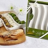 """Artisano Designs """"Oliveto"""" Porcelain Appetizer Swirl Plate"""