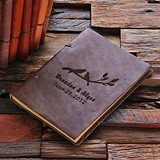 Personalized Love Birds Design Leather Notebook/Journal/Guest Book