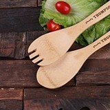 Personalized Engraved Bamboo-Wood Salad Utensils