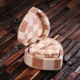 Personalized Nested Wood Hearts Engraved with Messages (Set of 2)