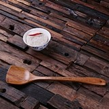Personalized Bamboo-Wood Spatula with Engraved Name or Message