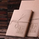 Personalized Custom Kraft-Cover Journals/Notebooks (Large & Small)