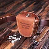 Personalized Engraved Genuine Leather Tool Belt Pouch