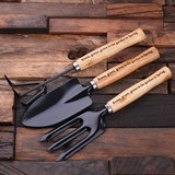 Personalized Engraved 3-piece Wooden-Handled Garden Tools (Set of 3)