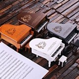 Personalized Piano-Shaped Music and Jewelry Box (4 Wood Finishes)