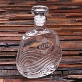 Personalized Engraved Art-Deco-Inspired 28 oz Glass Whiskey Decanter
