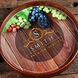 Personalized Dark-Wood Serving Tray with Premium Quality Design