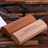 Personalized Suede-Lined Eyeglass Case with Engraved Message