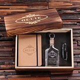 Personalized Gift-Set w/ Journal, Army Knife & Vintage-Inspired Flask