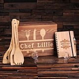 Personalized 8-Piece Culinary Gift-Set w/ Baking Dish in Wood Gift-Box