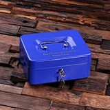 Personalized Metal Home Safe/Petty Cash Box (3 Colors)