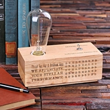 Personalized Wooden Edison Lamp Corporate Recognition Award