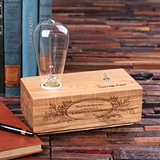 Personalized Wooden Edison Lamp Corporate Appreciation Award