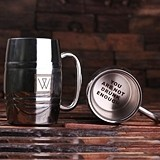 Personalized 14 oz. Stainless Steel Beer Mug (34 Monogram Designs)