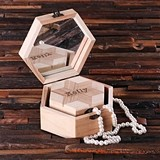 Personalized Nested Octagonal Keepsake/Jewelry Boxes (Set of 2)