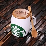 Ceramic Starbucks™ Mug with Personalized Bamboo Lid & Spoon (3 Colors)