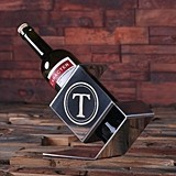 Personalized Stainless Steel Wine Bottle Holder (34 Monogram Designs)