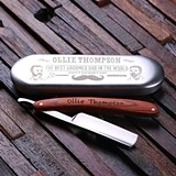 Father's Day Personalized Vintage-Style Straight Razor and Tin Case