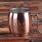 Personalized Moscow Mule Mug with Unique Handle and Engraved Recipe
