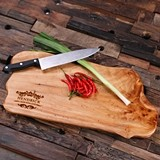 Personalized Engraved Cedar Wood Cutting Chopping Board