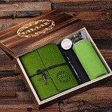 Personalized Gift-Set with Journal, Pen & Water Bottle in Keepsake Box