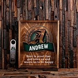 Personalized Beer Cap Holder Shadow Box and Bottle Opener