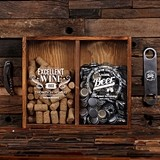 Personalized Wine Cork & Beer Cap Holder Shadow Box with Openers