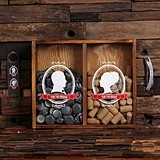 For the Groom Beer Cap and For the Bride Wine Cork Holder Shadow Box