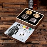 Gentleman Design Gaming Set w/ Personalized Flasks & Poker Chips