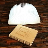 Personalized Wooden Book-Shaped LED Light Reading Lamp