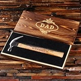 Personalized Carpenter Hammer with Engraved Wood Gift-Box