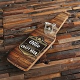Personalized Wood Wall Hang Bottle Opener with Black Label Design