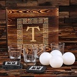 Monogrammed Whiskey Glasses, Slate Coasters and Ice Ball Makers